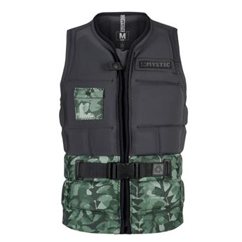 Gilet Wakeboard Impact MYSTIC Shred Front Zip 605 Green Allover