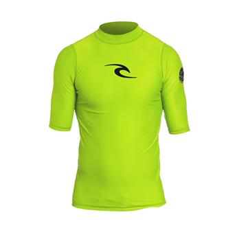 Lycra manches courtes RIP CURL CORPO S/SL UV TEE  4078 Lime