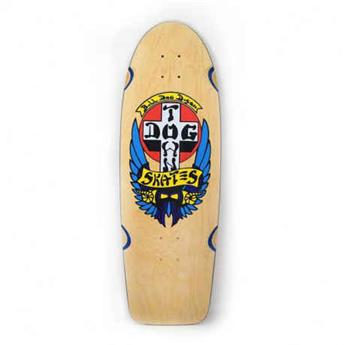 Deck skateboard DOGTOWN x SUICIDAL og classic bull dog natural blue veneer 10
