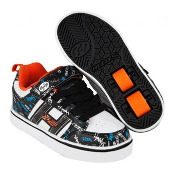 Chaussures à roulette HEELYS Bolt Plus (770938) Black/White/Orange/Cyan