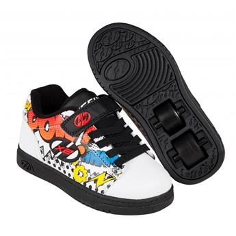 Chaussures à roulette HEELYS Dual Up (770947) White/Black/Multi Comic