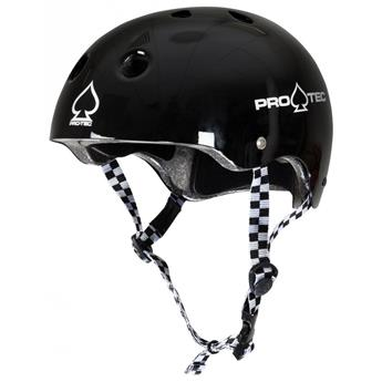 Casque urbain PRO-TEC Classic Certified Gloss Black Checker