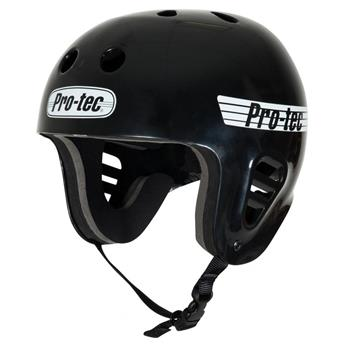 Casque Wakeboard, Kitesurf et Windsurf PRO-TEC FullCut Water Gloss Black