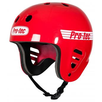 Casque Wakeboard, Kitesurf et Windsurf PRO-TEC FullCut Water Gloss Red