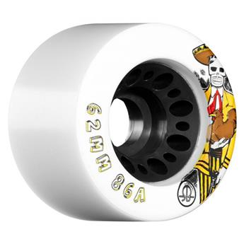Roues Roller Quad (Pack de 4) ROLLERBONE Day of the Dead White 62 MM