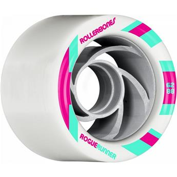 Roues Roller Quad (Pack de 8) ROLLERBONE Rogue Runner Signature White 62 MM 88a