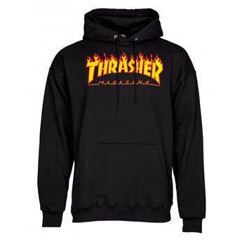 Sweat shirt THRASHER Flame Logo Hoodie Black