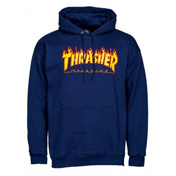 Sweat shirt THRASHER Flame Logo Hoodie Navy