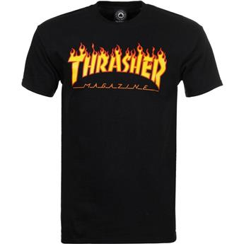 T-shirt THRASHER Flame Logo Black