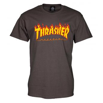 T-shirt THRASHER Flame Logo Charcoal