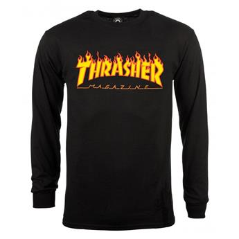T-shirt THRASHER Flame Manches Longues Black