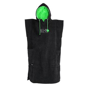 Poncho Surf CLASSIC FLASH ALL IN  Couleur Black / Green Flash