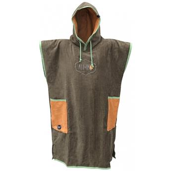 Poncho Surf ALL IN CLASSIC BUMPY Couleur Olive/Melon/Paradise Green
