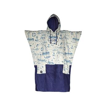 Poncho Surf ALL IN V Poncho Surf BUMPY Couleur Marin Print/Navy Strip