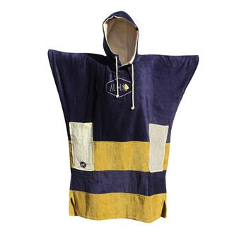 Poncho Surf ALL IN V Poncho Surf BUMPY BI MATIERE Couleur Navy /Ecru Waffle/Gold