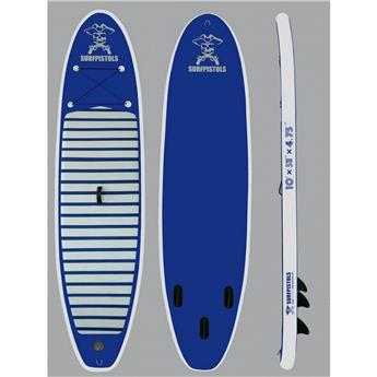 Pack Sup gonflable SURFPISTOLS ISUP 10´ + pagaie 3 parties + leash
