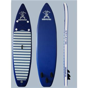 Pack Sup gonflable SURFPISTOLS ISUP 10´6´´ + pagaie 3 parties + leash