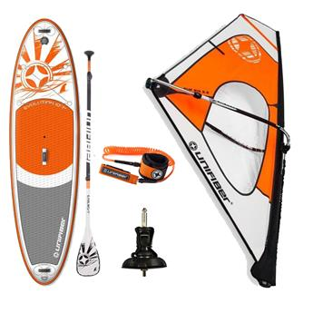 Pack Sup Windsurf gonflable + Gréement Dacron + Pagaie Aluminium + Leash UNIFIBER