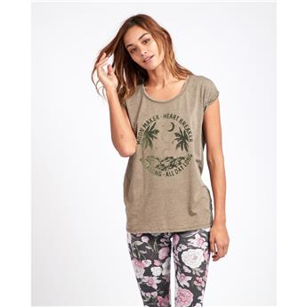T-shirt femme BILLABONG ALL NIGHT TEE 31 OLIVE