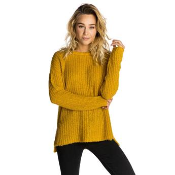 Pull Femme RIPCURL ANA CREW SWEATER 9567 GOLDEN APRICOT