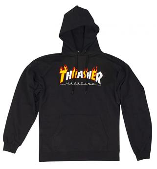 Sweat shirt THRASHER Flame Mag Black