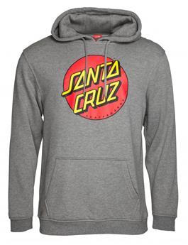 Sweat SANTA CRUZ CREW Classic Dot Hoody Dark Heyther Gris