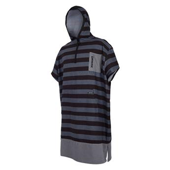 Poncho surf MYSTIC Allover 990 Rayures Black/Grey