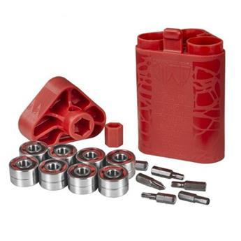 Roulements Roller Quad WICKED BEARINGS Bearings Abec 7 Quad Red