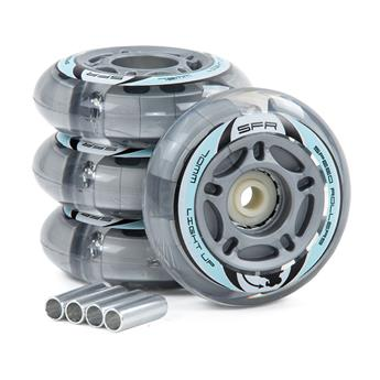 Roue Roller en ligne SFR ROLLER Light Up Inline Wheels  Silver
