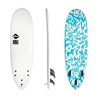 Surf softboard SOFTECH Bomber FCS II White Blue