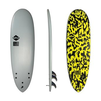 Surf softboard SOFTECH Bomber FCS II Grey Acid