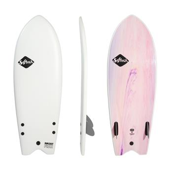 Surf softboard SOFTECH Rocket Fish FCS II 4,8 White Marble