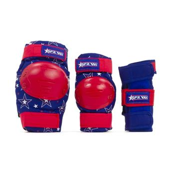 Set de protection SFR ROLLER Star Red/Blue