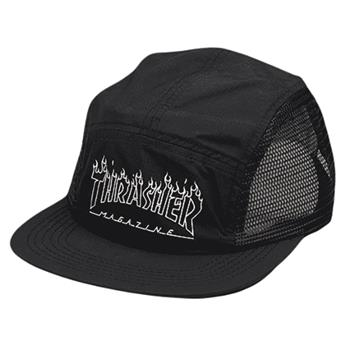 Casquette THRASHER 5 panel flame outline black