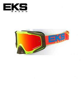 Masque moto, VTT EKS s series flo yellow / cyan blue / fire red