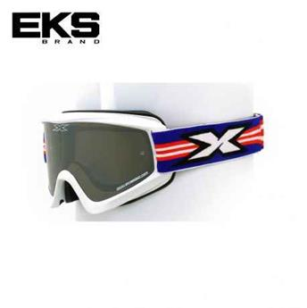 Masque moto, VTT EKS flat out series white / red / blue