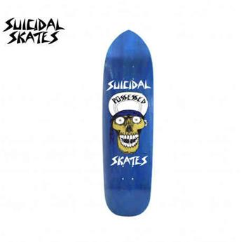 deck skateboard DOGTOWN x SUICIDAL shape punk point skull blue 8.75