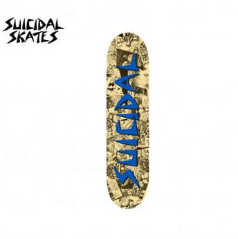 deck skateboard DOGTOWN x SUICIDAL street punk flyer blue 8.375