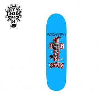 Deck skateboard DOGTOWN x SUICIDAL shape stone fish pool blue 8.375